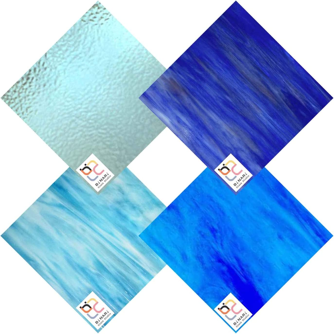 Wissmach 4 Cash special price Sheet Mixed Color Glass Pack Stained Variety It is very popular Blue