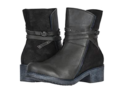 Naot Poet (Tin Gray Leather/Oily Midnight Suede/Ink Leather) Women