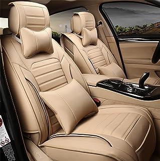 CUSHION RUIRUI Auto Sitzbezüge, PU Classic Leder Sitzbezüge 5 Sitze Full Set Vorne Hinten Auto Kissen