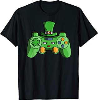Video Game Gaming St Patricks Day Gamer T Shirts For Boys