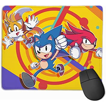 Amazon Com Wrenho Sonic The Hedgehog Sonic Mania Non Slip Mouse Pad Rectangle Rubber Anime Mouse Pad Gaming Mouse Pad 12x9 8 Inch 30x25 Cm Home Kitchen