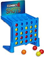 Connect 4 Shots - Bounce em in 4 The Win - 2+ Players - Four in a row - Classic Game with a Twist - Family Board Games...