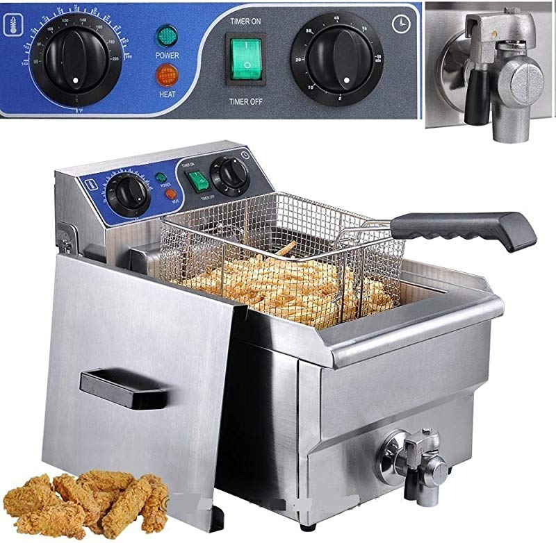 GHP 11 7 Liter Tank Capacity 1500W Electric Stainless Steel Deep Fryer With Timer
