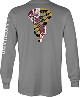 LAX SO HARD Mens Maryland Lacrosse Long Sleeve T-Shirt