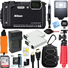 Nikon COOLPIX W300 16MP 4k Ultra HD Waterproof Digital Camera (Black) + 32GB Memory & Flash Deluxe Accessory Bundle