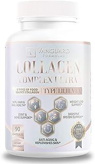 Vanguard Formulas Collagen Complex Ultra – Full Spectrum Collagen Supplement – Collagen Capsules for Hair, ...