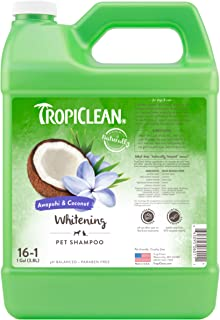 TropiClean Awapuhi & Coconut Whitening Shampoo for Pets, 1 gal - Whitens and Brightens All Coats, Made in the USA