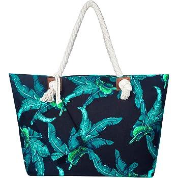 Czemo Sac de Plage Femme Grande Taille XXL Sac /à Main Vacances Fourre-Tout Grand Avec Zip Sac de Shopping Impermeable