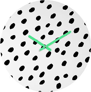 13 by 13-Inch Wall Clock DPP/_117477/_2 3dRose Cute Small Dog Daschund in Red Circle Retro Style Pet Cartoon