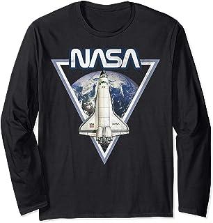 NASA Triangle Earth Logo Shuttle Flight Manche Longue