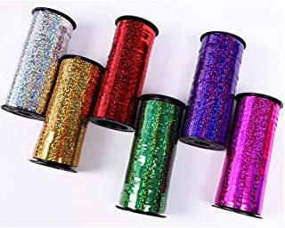 PIKABOO 5 mtr Spool Holographic Sparkles Curling Ribbon in 6 12 Spools in Products Display Quickly | Sparkly Ribbon Great ...