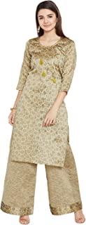 Agroha Women's Cotton Kurta Palazoo Set