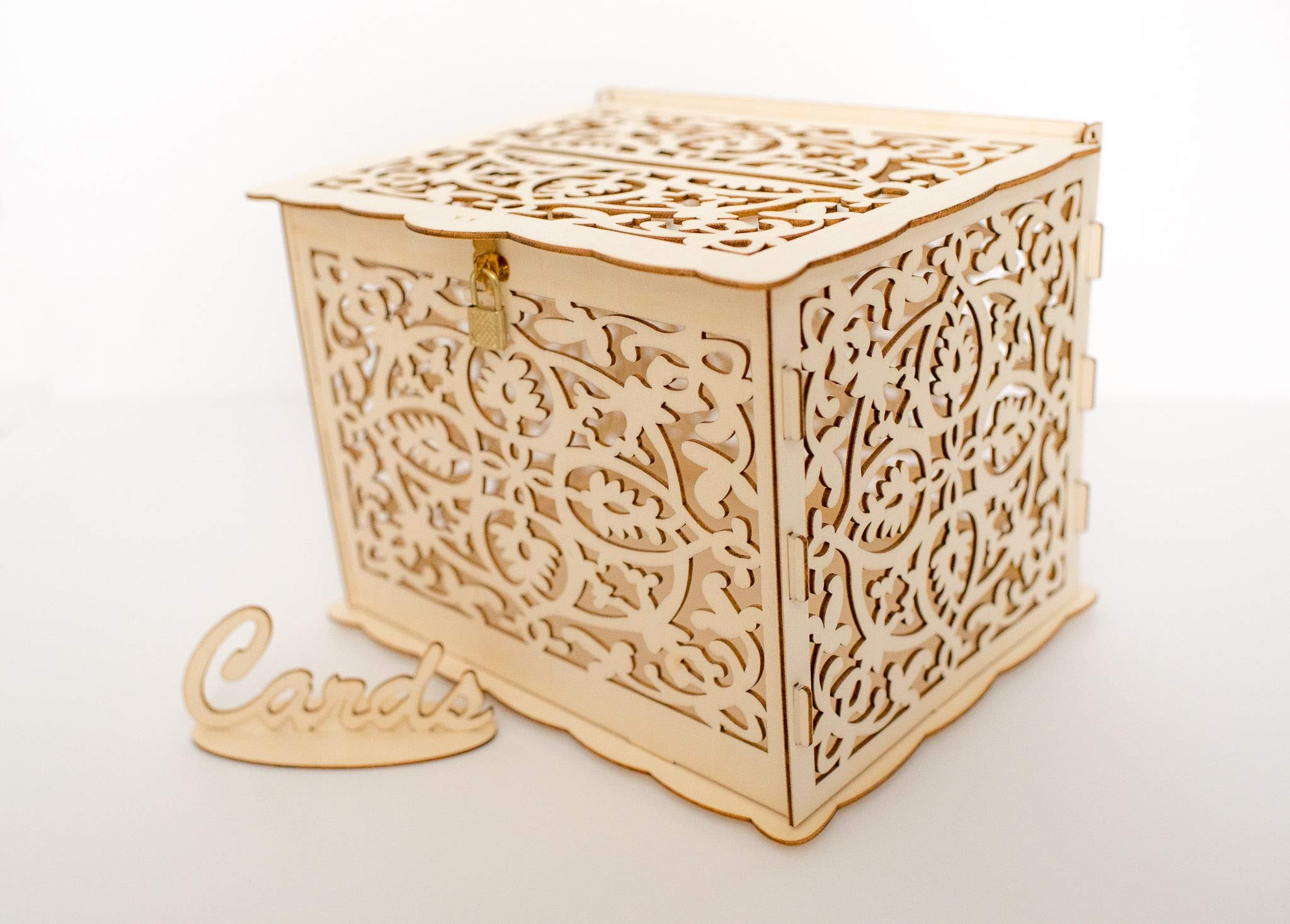 Premium Card Box Holder Baby Shower Wedding Birthday Party Decorative Wooden Boxes Wood Locking Card Box Rustic Storage Decoration With Lock Anniversary Decorations Card Holder Lock Box Buy Online In