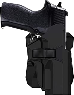 TEGE OWB Holster Compatible with Sig P226 P227 P228 P229, Tactical Outside Waistband Paddle Holster with 360° Adjustable Cant, Black, Right-Handed