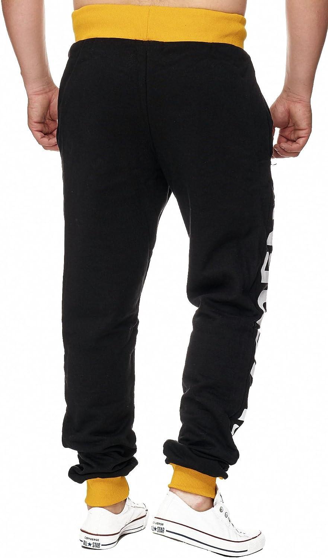 Enger Beinabschluss Montecarlo 592 Design Sporthose mit B/ündchen Violento Jogginghose Damen lang Trainingshose 100/% Baumwolle