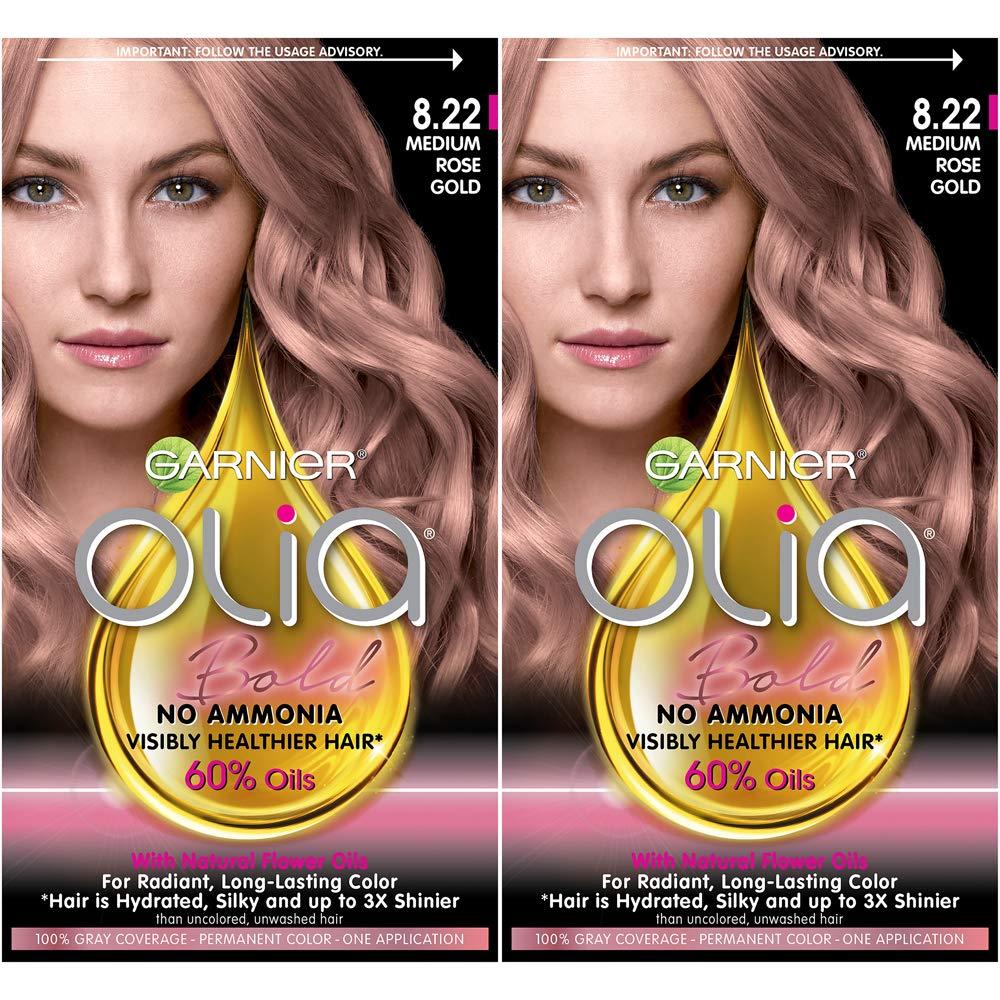 Garnier Olia Bold Oil Powered Permanent Hair Color, 8.22 Medium