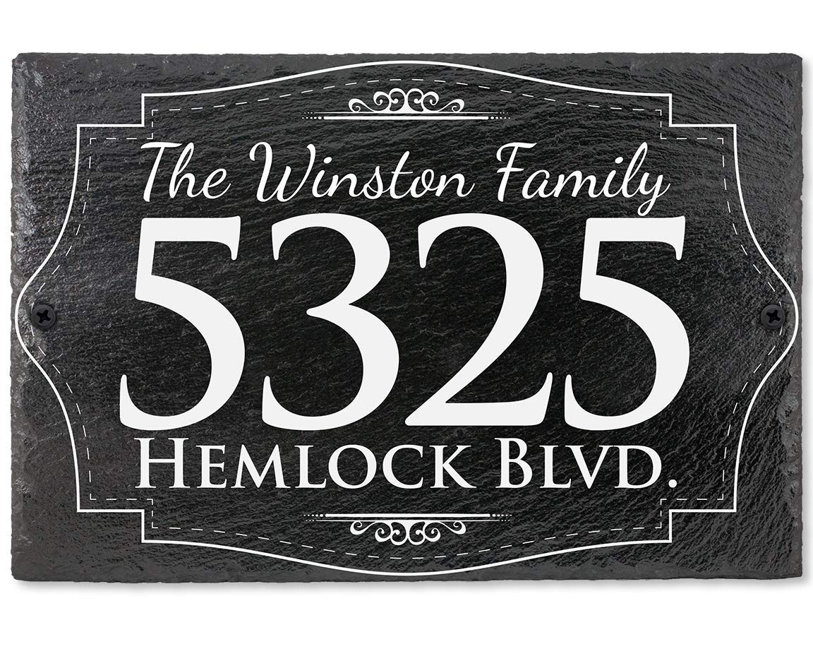 Slate House Address Plaque - Popular brand 12