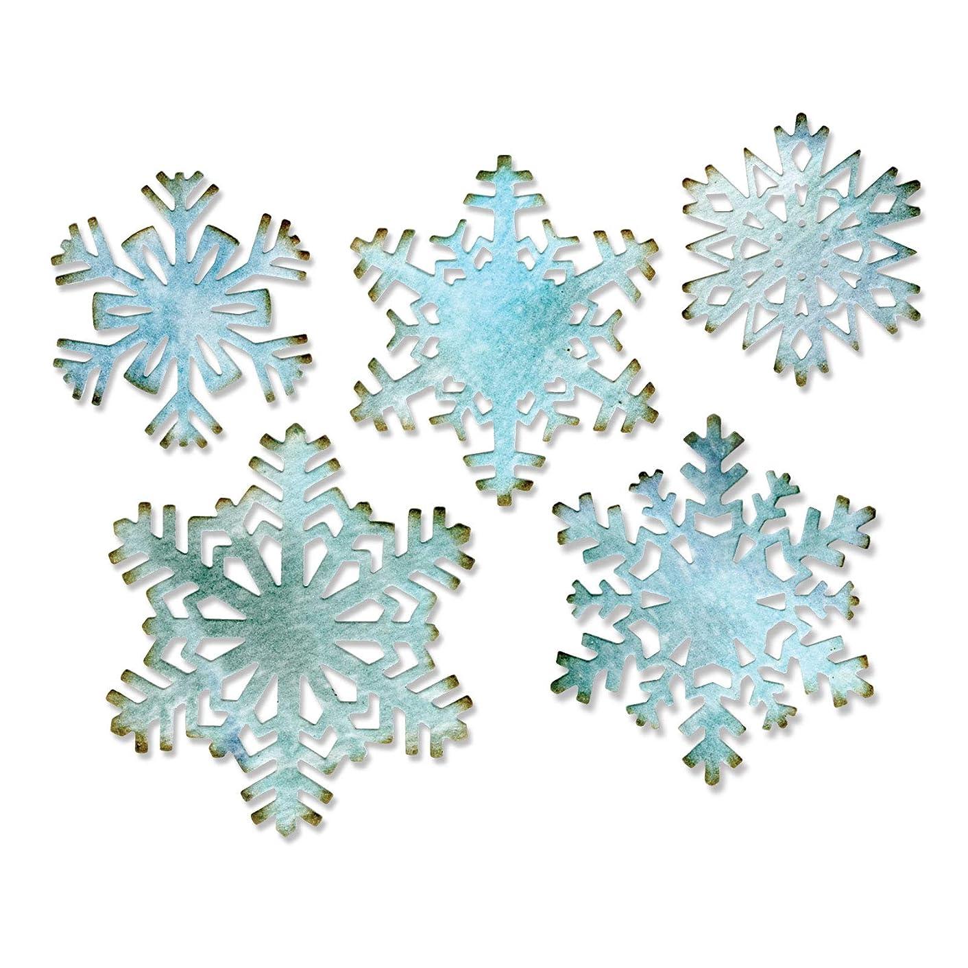 Sizzix 660059 Paper Snowflakes Thinlits Dies by Tim Holtz, 5-Pack