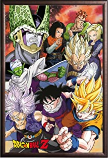 Framed Dragon Ball Z - Perfect Cell Saga 24x36 Poster in Real Wood Premium Copper Rust Finish Crafted in USA