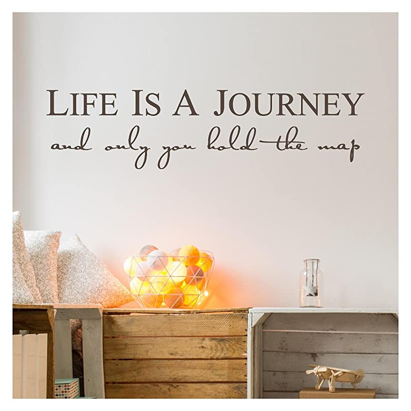 Life is a Journey and Only You Hold the Map Vinyl Lettering Self Adhesive Decal (9