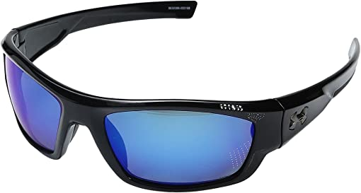 Storm (Ansi) Shiny Black/Black Frame/Gray Polarized/Blue Mirror