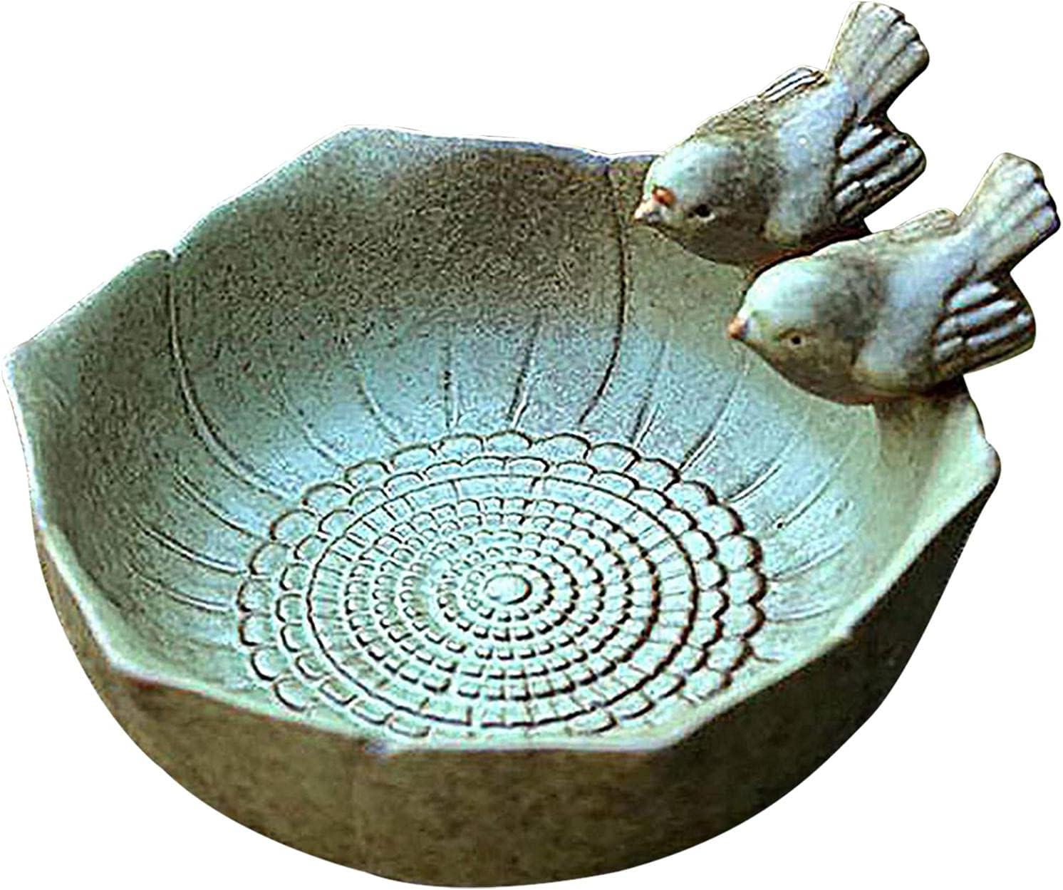 Poiuqew Ceramic Limited price sale Bird Special Campaign Feeder Feeding Bowl Tray 630630315inch