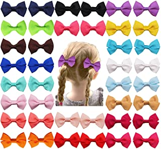 DeD 40 Pieces 2 Inch Mini Hair Bows Clips for Baby Girl Small Hair Bows Tiny 2