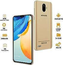 Moviles Libres 4G LTE,3GO RAM+32GO ROM,Android 9.0 Google Certificación GMS,5.5 Pulgadas Smartphone Libre Dual SIM, 3400mAh Quad Core Moviles Buenos (2 x Micro SIM +1 MicroSD)