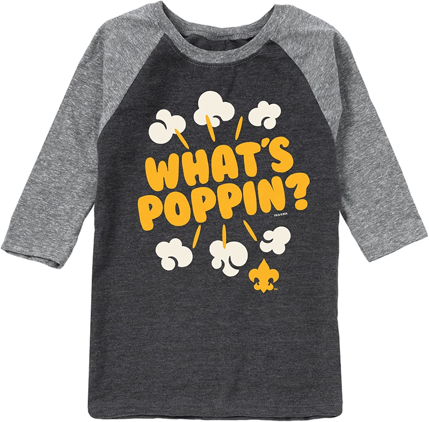 BSA Whats Poppin - Toddler and Youth Raglan T-Shirt