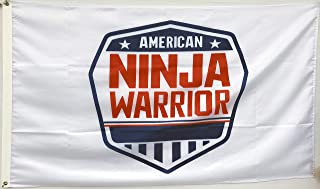 Annfly American Ninja Warrior Flag Shield Banner Competition Obstacle ANW Race Gym 3X5 Feet