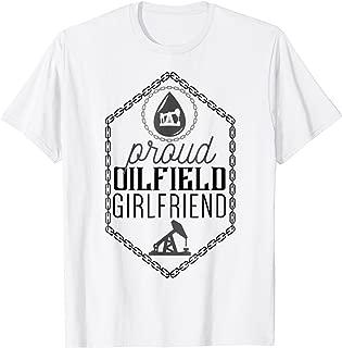 Proud Oilfield Girlfriend Shirt Derricks and Pump-Jacks