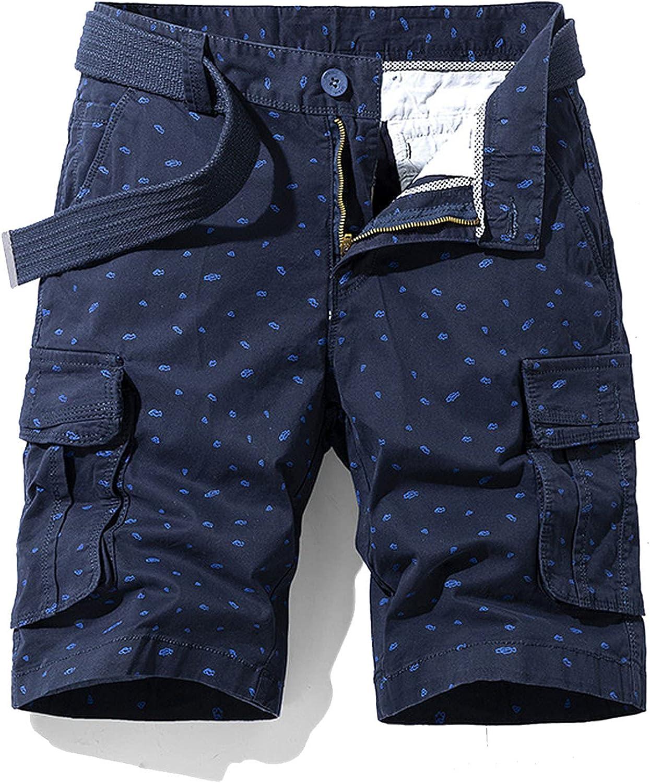 New Spring Men Cotton Cargo Shorts Clothing Summer Casual Breeches Bermuda Fashion Beach Pants Los Cortos Short-Blue-27