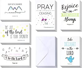 Christian Greeting Cards - 60 Inspirational Greeting Cards -Bible Verse Greeting Cards -Motivational Greeting Cards- Religious Greeting Cards- 60 Scripture Greeting Cards with 60 Envelopes- 4 x 6 Inch