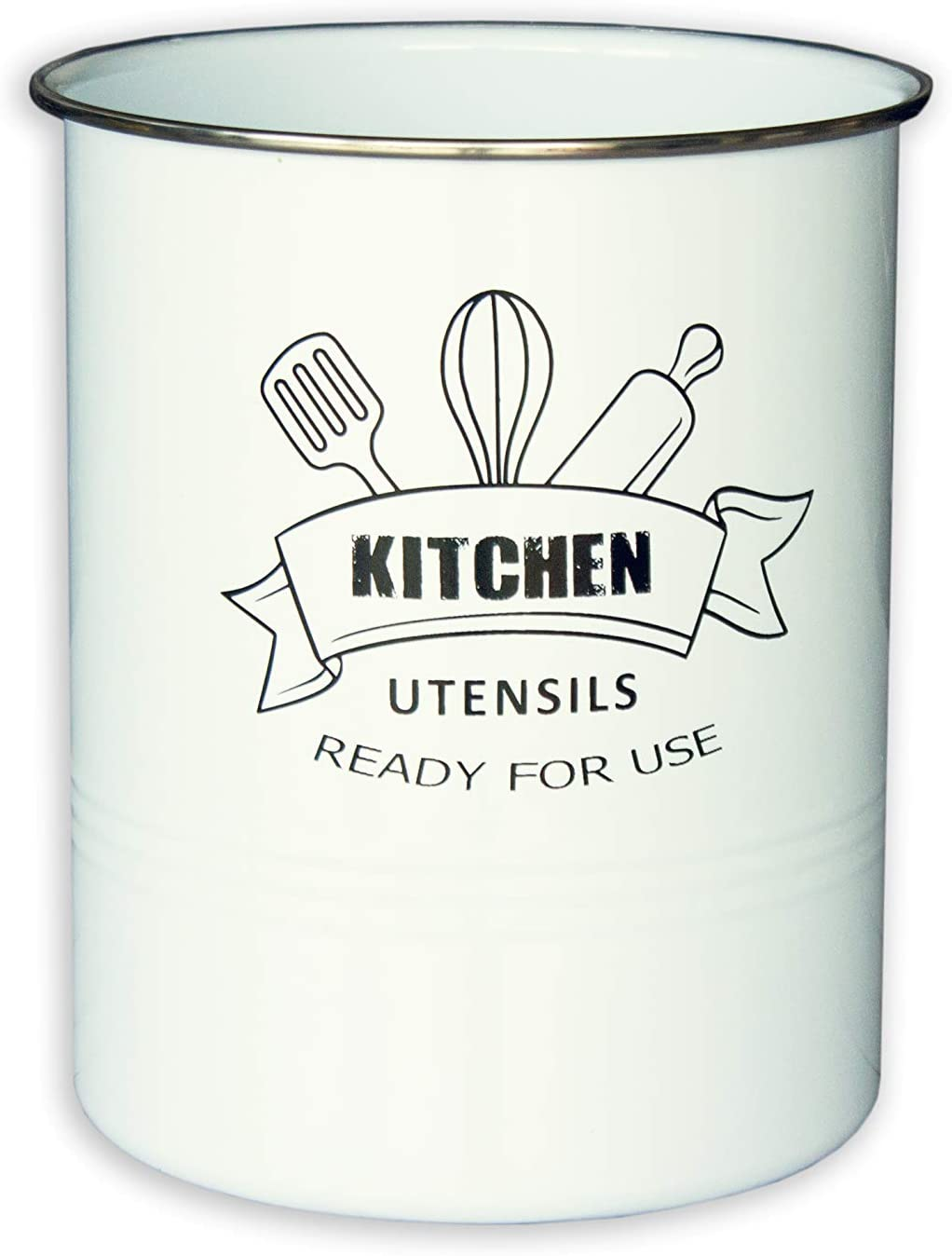 KITCHEN Max 73% OFF Utensil Holder for Countertop Stainless Complete Free Shipping with Large Stee