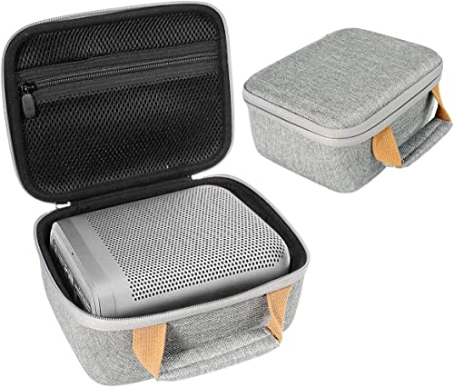 InGo Portable Bluetooth Speaker Case for Bang & Olufsen Beoplay P6 Portable Bluetooth Speaker, Extra Shock Absorbing Soft Foam Padding, Zipper mesh Accessory Pocket, Featured Contrast Color Handle