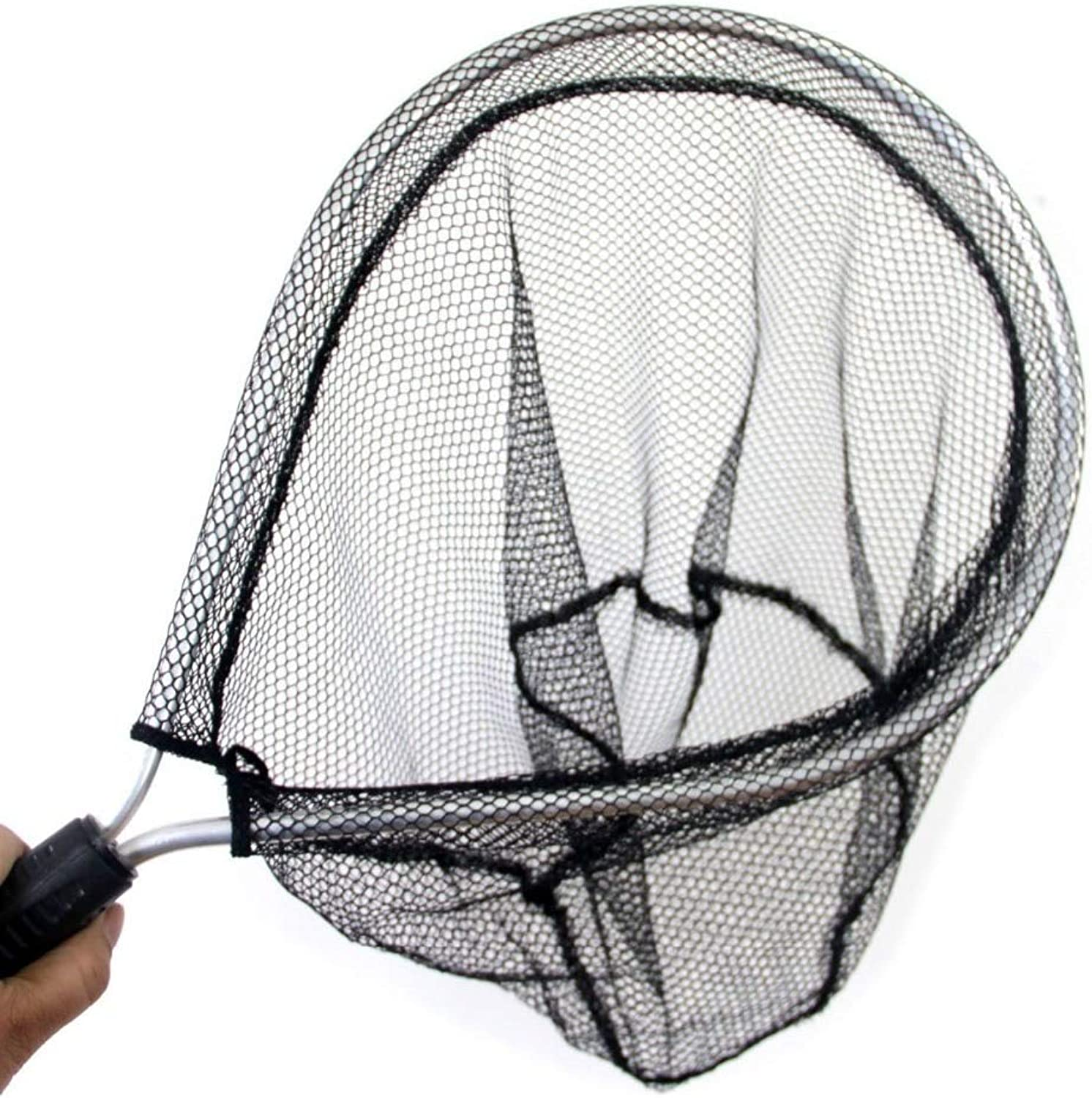 5pcs Landing Net Catch and Release Nets Scoop Brail Nylon Mesh Netting for Fly Trout Kayak and Boating Fishing Aluminum Hoop