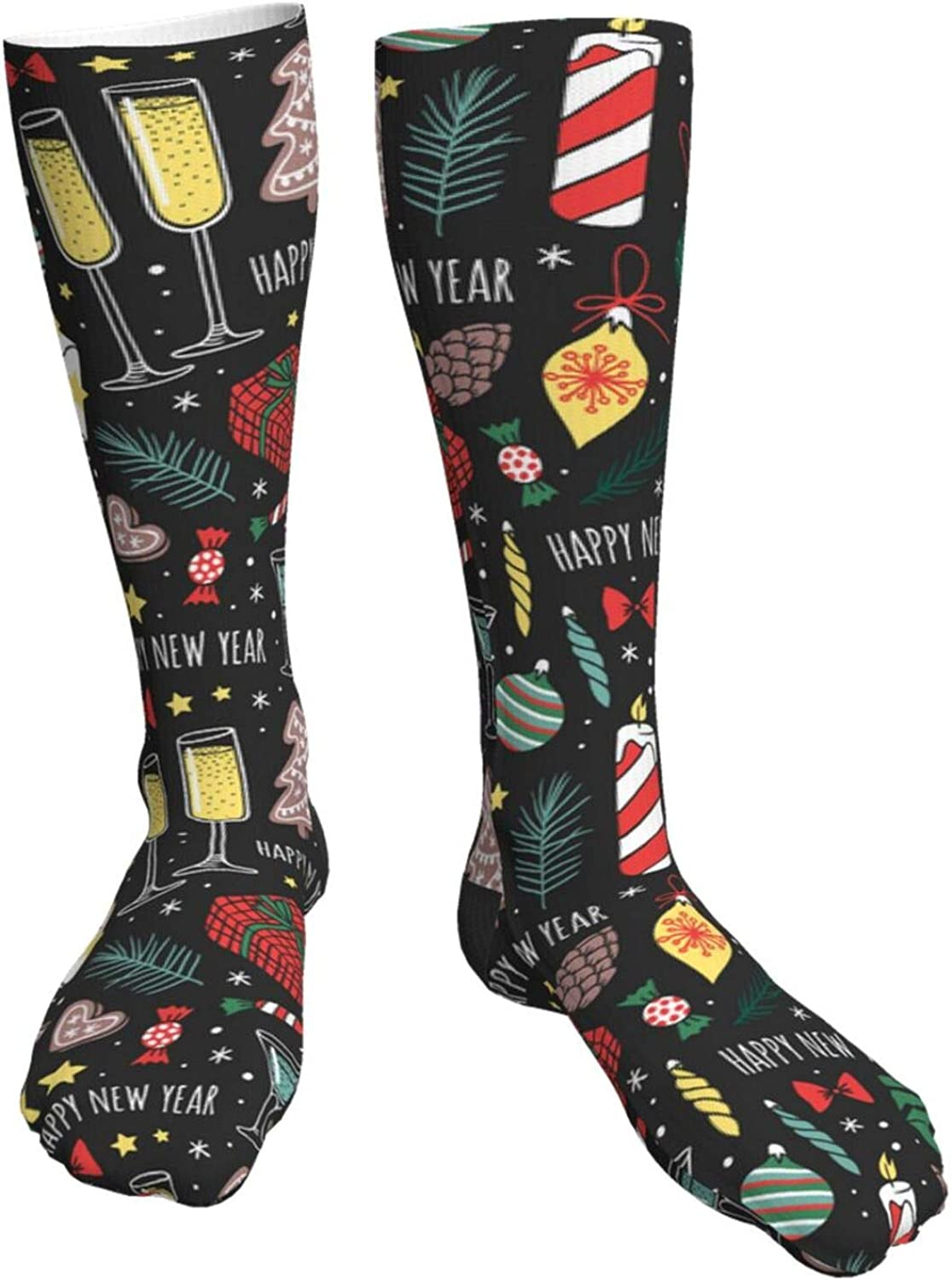 Snowman Fir Trees And Snowflakes Socks High order Unisex Long New York Mall Crew Casual