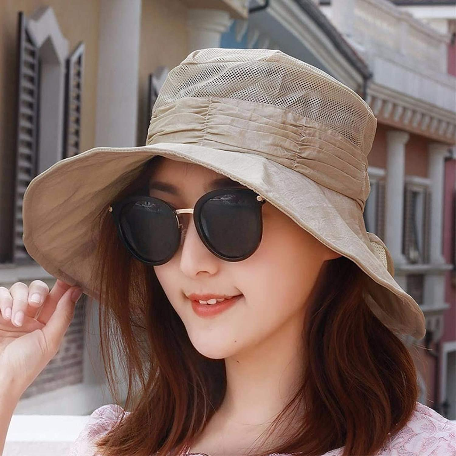Dianye Summer Visor female large along the hat sun hat sun hat outdoor walking hat beach hat fast dry mouth Cap