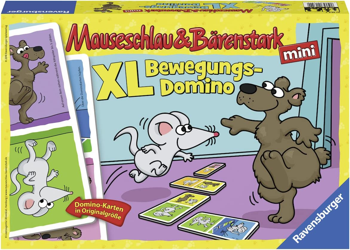 Ravensburger 21354 Mouse Strap and Bear Ranking TOP7 Domino OFFicial store Strong Motion XL