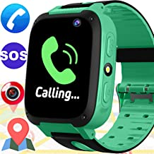 Kid Smart Watch with GPS Tracker - Kids Smartwacth for Girls Boys with Cell Phone SOS Anti-Lost Camera Game Outdoor Children Digital Wrist Watch Fitness Tracker for Halloween School Class Prize Gifts