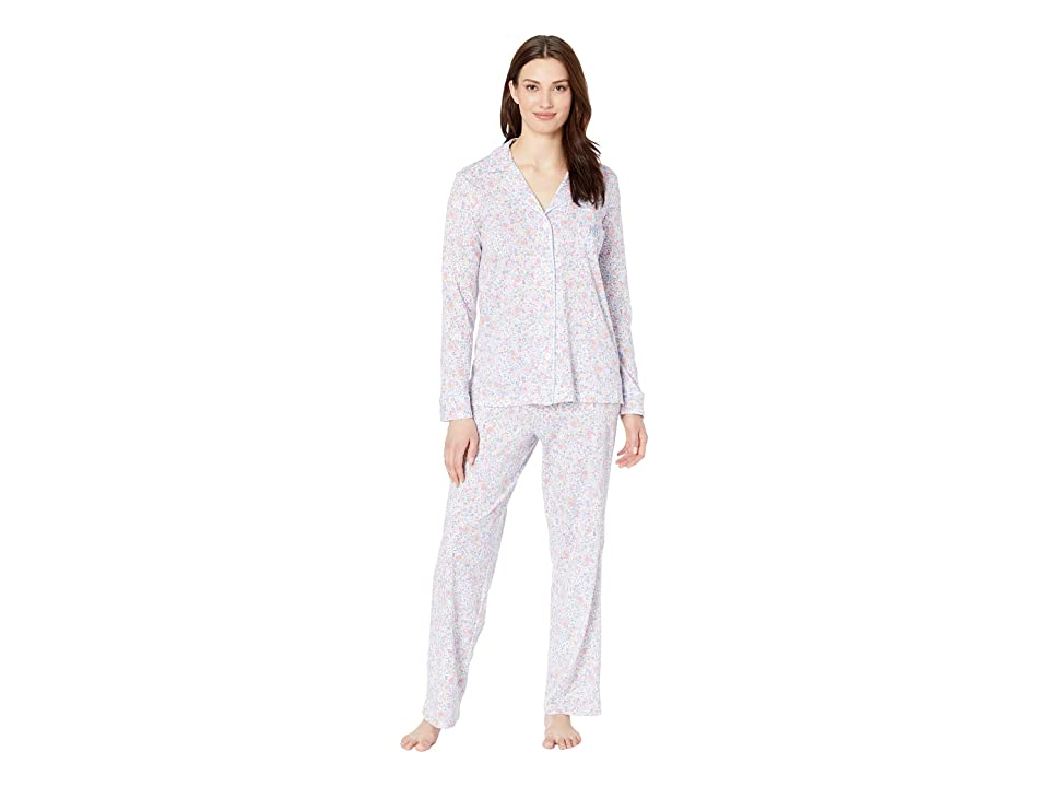 LAUREN Ralph Lauren Knit Notch Collar Pajama Set (Multi Floral Print) Women