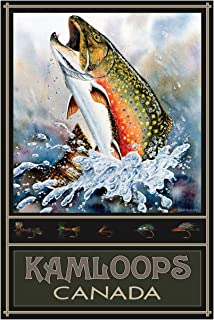 Brook Trout Kamloops British Columbia Canada Travel Art Print Poster by Dave Bartholet (24