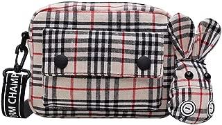 Crossbody bag canvas lattice Shoulder Bags fashion Small square bag Multicolor