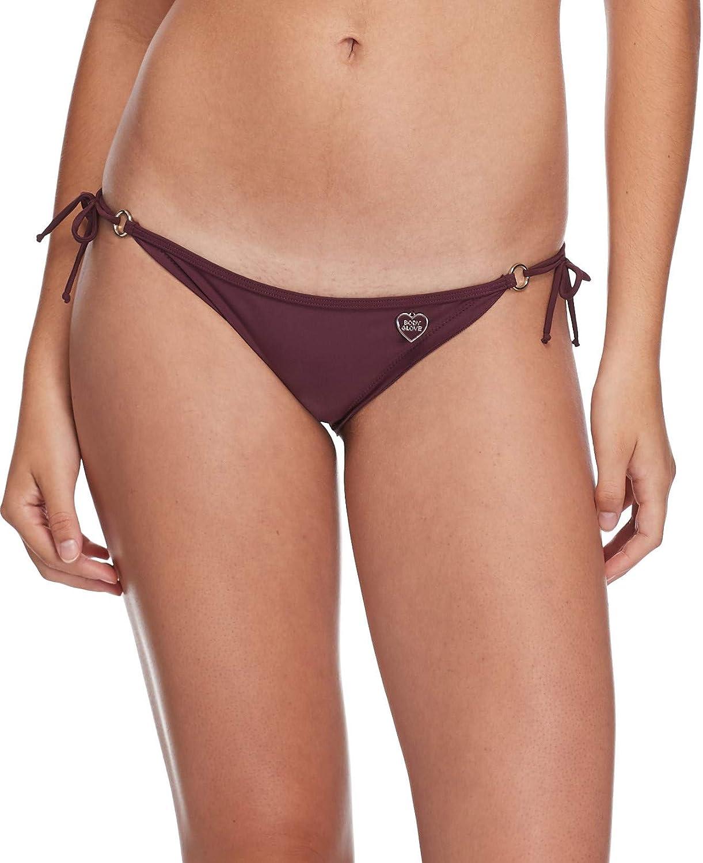 Body Glove Women's Smoothies Brasilia Solid Tie Side Cheeky Bikini Bottom Swimsuit