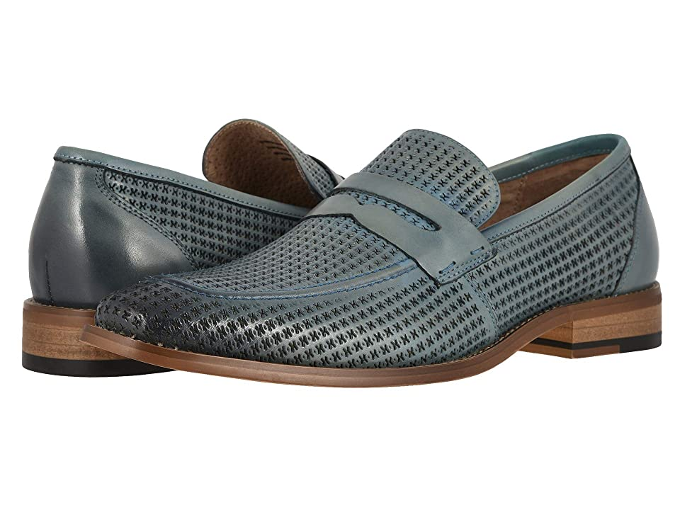 Stacy Adams Belfair Moc Toe Slip On Loafer (Chalk Blue) Men