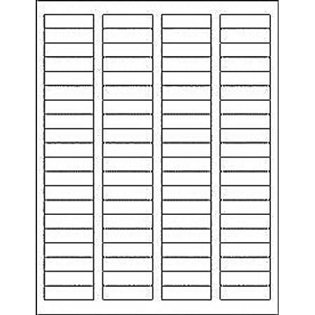Printed Self Adhesive White Return Address Product Labels