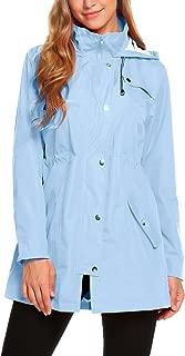 Womens Lightweight Hooded Waterproof Active Outdoor Rain Jacket S-XXL