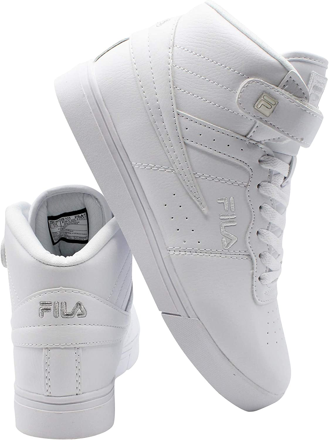 81eda97c6 Fila Men's Vulc 13 13 13 Mid Plus Fashion Sneakers, White, Microsuede,  Rubber, 13 M 79da1a