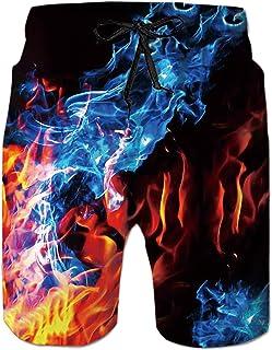 Fanient Short de Bain pour Homme 3D Print Graphic Watershorts Short de Plage à séchage Rapide Maillot de Bain Pantalon de ...