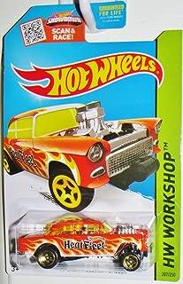 Hot Wheels 2015 HW Workshop '55 Chevy Bel Air Gasser 207/250, Orange